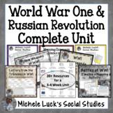 UPDATED! World War One & Russian Revolution COMPLETE UNIT