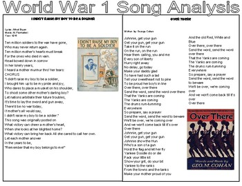 World War One Song Analysis