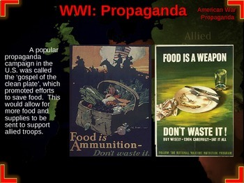 World War One: U.S. Perspective - PART 4 PROPAGANDA