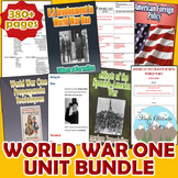 World War 1 Unit Bundle (U.S. History / World History)