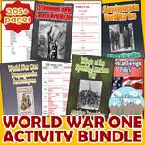World War One (WWI) WW1 Activity *Bundle* (World History / U.S. History)