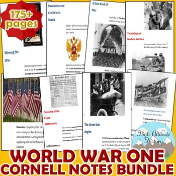 World War One (WWI) Cornell Notes *Bundle* (World History / U.S. History)