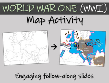 World war one wwi map activity easy fun engaging interactive world war one wwi map activity easy fun engaging interactive 22 slide ppt gumiabroncs Choice Image