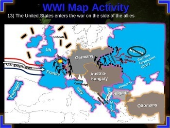 World War One (WWI) Massive Bundle (25 resources; 16 documents, 8 PPTs)
