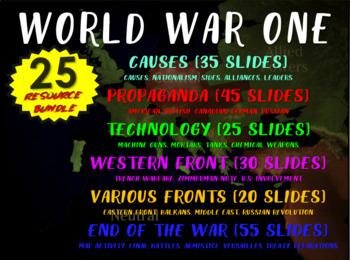 World War One (WWI) Massive Bundle (25 resources; 16 docum