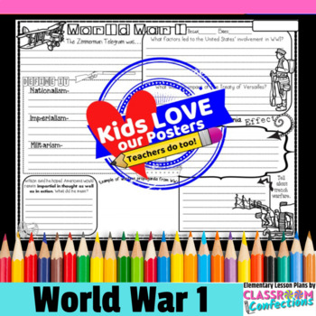 World War One (WWI) Activity Poster