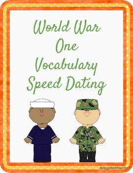 World War One WWI Vocabulary Speed Dating