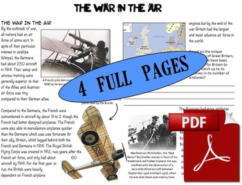 CHC2P CHC2D World War One: War In The Air