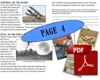 CHC2P CHC2D World War One: War In The Air