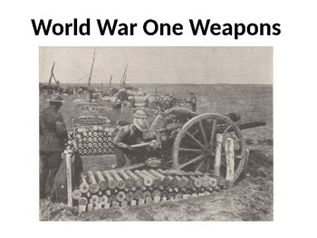 World War One Weapons Card Sort