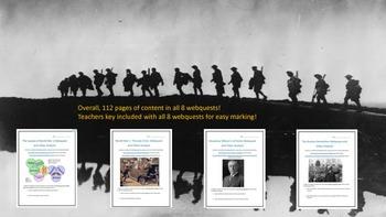 World War One Webquest and Video Analysis Bundle