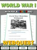 World War One - Webquest with Key (History.com)