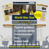 World War One   Whose Fault Was It? Activity Pack and Awar