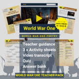World War One   World War One Poetry Activity Pack and Awa