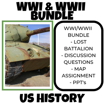 World War One & World War Two - Bundle (US History)