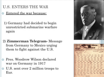 World War One and Russian Revolution PowerPoint Lesson