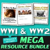 World War One & World War Two - MEGA Resource Bundle (World History)