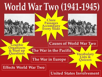 World war 2 vocabulary teaching resources teachers pay teachers world war two unit resource bundle powerpoint fandeluxe Choice Image
