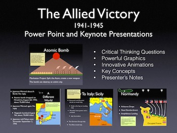 WW2 Europe 1941-45 Power Point/Keynote Presentation