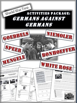 """World War 2 Package - """"Were all Germans Nazis?"""" - Nazi leaders and Opposition"""