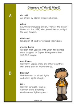 Glossary of World War Two