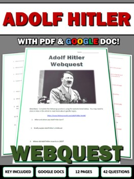 World War Two Dictators (WWII) Webquest Bundle - Hitler, Stalin, Mussolini, Tojo