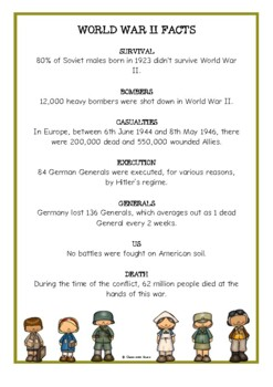 World War Two Fact Cards