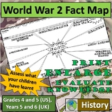 World War Two - Fact Map (History) Assessment method to evaluate knowledge