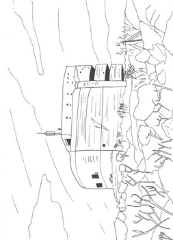 World War Two: German Bunker: The Odeon: Colouring Worksheet