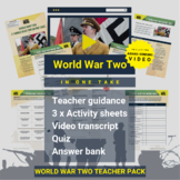 World War Two (In One Take) Activity Pack and Award-winning Video