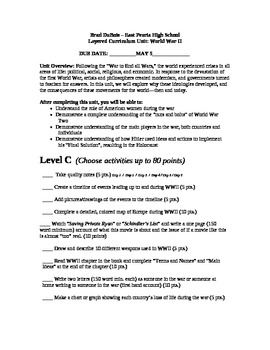 World War Two - Layered Curriculum