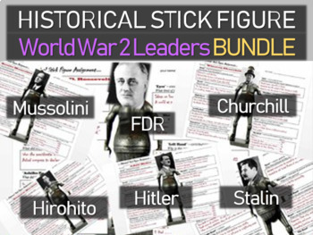 World War Two Leaders Churchill Stalin Hitler Mussolini Hirohito (6 assignments)