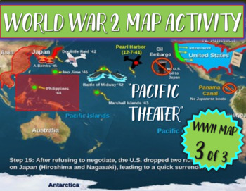 Wwii world war two map activity pacific theater fun interactive wwii world war two map activity pacific theater fun interactive 21 slide ppt gumiabroncs Images