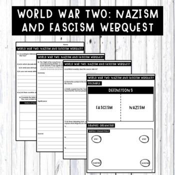 World War Two: Nazism and Facism homework webquest
