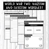 World War Two: Nazism and Fascism homework webquest