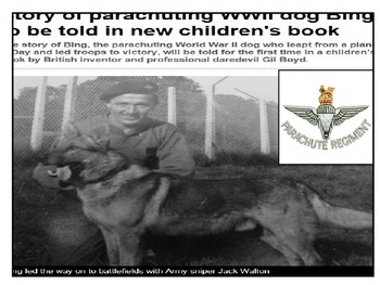 World War Two Parachute Dog - Bing and the Dickin Medal