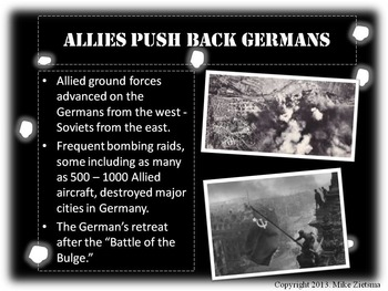 """World War 2 - """"D-Day Invasion to V-E Day"""" - Vivid Powerpoint! 1944-1945"""
