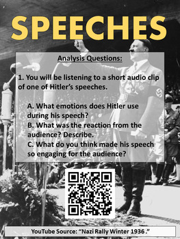 Hitler and Nazis Germany Primary Source Station Activity