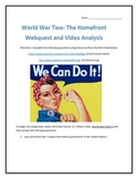 World War Two- The Homefront- Webquest and Video Analysis