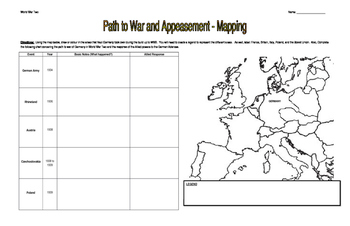 World War Two (WW2) - Mapping Assignment