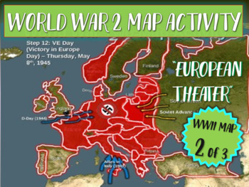 World War Two Wwii Map Activity European Theater Fun