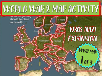 wwii world war two map activity nazi expansion fun interactive 22 slide ppt. Black Bedroom Furniture Sets. Home Design Ideas