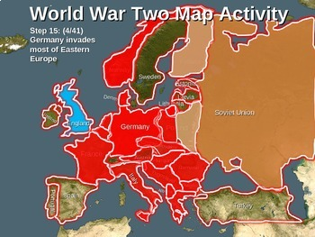 Wwii world war two map activity nazi expansion fun interactive wwii world war two map activity nazi expansion fun interactive 22 slide ppt gumiabroncs Images