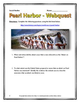 Pearl Harbor - Webquest with Key (History.com) World War T