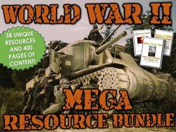 World War II (WWII) MEGA Resource Bundle - Project, Analysis, PPT's, Webquest