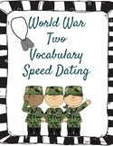 World War Two WWII Vocabulary Speed Dating