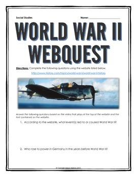 World War II - Webquest with Key