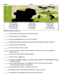 World War Z by Max Brooks Worksheets, Art Projects, & Asse