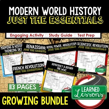 World War II,  WWII Outline Notes JUST THE ESSENTIALS Unit Review