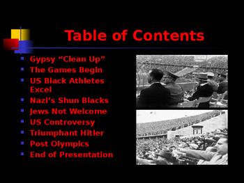 World Wars Era - Pre WW II Era - The Berlin Olympics of 1936